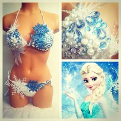 Reserved for mrenaud22  Frozen Bikini by TheLoveShackk on Etsy, $120.00