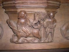 misericord in Bristola Cathedral, carved in 1520. photo via the wonderful FREE misericords site www.misericords.co.uk [ends co.uk] for all your misericords needs!