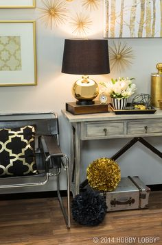 Dress up your home with modern touches and stylish gold.