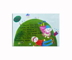 Jack and Jill Canvas / Children's Art / by WithHugsandKisses, $64.00