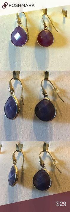 Blue Lapis Stella & Dot Earrings Blue lapis stone. Trimmed in gold. Excellent condition. Stella & Dot Jewelry Earrings