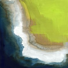 Surf Abstraction Art Print by Paper Dahlia