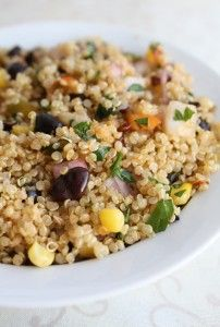 Quinoa is a complete protein source and is so versatile. I love making it into quick salads like this one
