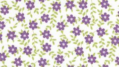 2 yards Chatter tailors fabric purple floral green by TokyoFabric