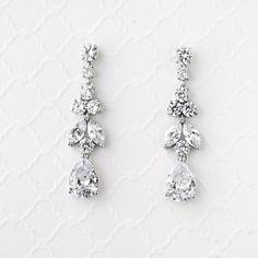 CZ Wedding Earrings Jewel Drop Dangles