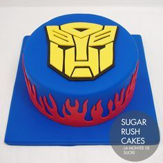 Transformers Cake For Eight More Más Harry Birthday, 4th Birthday Cakes, Boy Birthday, Birthday Ideas, Transformer Birthday, Transformer Cake, Sugar Rush, Rescue Bots Birthday, Rescue Bots Cake