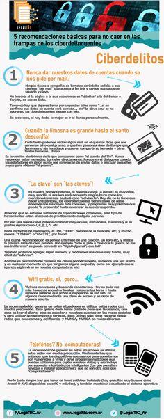 #ciberdelitos Algunos consejos para evitar caer en manos de los delincuentes virtuales. #LegalTiC