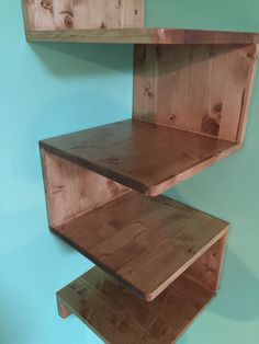 This Beautiful Corner shelf can be handmade just for you . NOW we hawe sale on all items. Please visit my shop for more details Corner Wall Shelf Unit, Wood Corner Shelves, Wood Shelving Units, Timber Shelves, Floating Corner Shelves, Wood Wall Shelf, Wooden Shelves, Wall Shelving, Wall Units