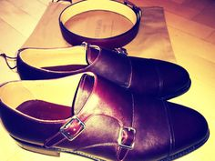 My personal burgundy double monkstraps by Meermin!