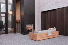 The Fire Dept - WD1 with custom wood grate for Pattersons Associates Architects