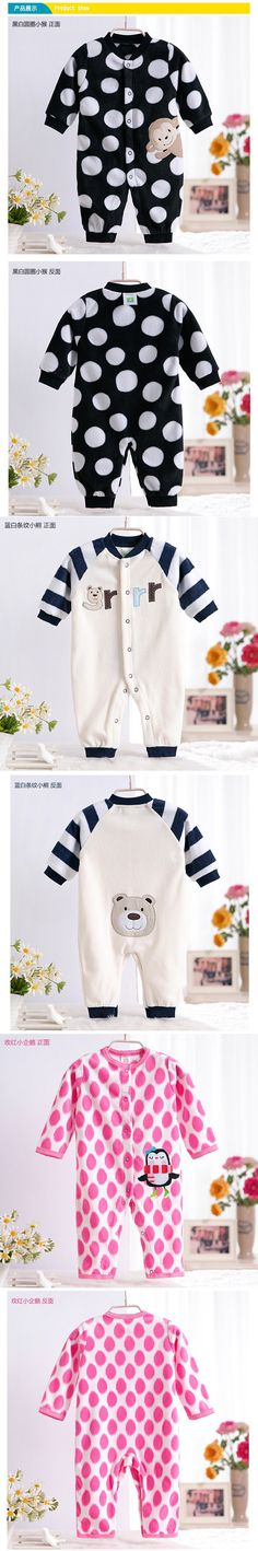 Monkey Love Print Fleece Newborn Baby Girl Overalls Romper Macacao Bebe Body Baby Rompers New Born Baby Clothes, Size 3-12M $10.25