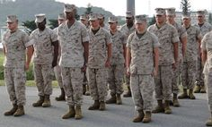 Marines in formation - Marine Corps Combat Utility Uniform - Wikipedia, the free encyclopedia