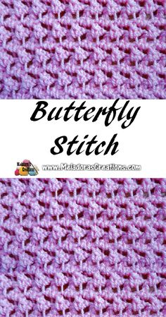 Crochet Stitches Patterns Meladoras Creations – Meladora's Butterfly Stitch – Free Crochet Pattern - This Your place to Learn to make the Meladora's Butterfly Stitch For FREE. by Meladora's Creations - Free Crochet patterns and Video Tutorials Crochet Stitches Free, Stitch Crochet, Crochet Geek, Tunisian Crochet, Afghan Crochet Patterns, Knitting Stitches, Crochet Crafts, Free Crochet, Stitch Patterns