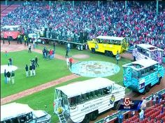 Fans jamming Fenway for the parade
