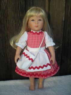 Puppenkleid-Dirndl-Kleidchen-Tasche-Fuer-ca-37-38-39-40-41-cm-Stehpuppen