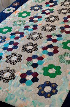 hexi flowers--I just love hexagons!