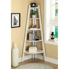 Have to have it. Merill 5-Tier Ladder Corner Shelf - White - $174.96 @hayneedle
