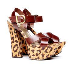 Athena printed platform sandal