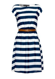 98ca725bae2 Image detail for -Nautical Stripe Dress - Dresses - Women Navy Mini Dresses
