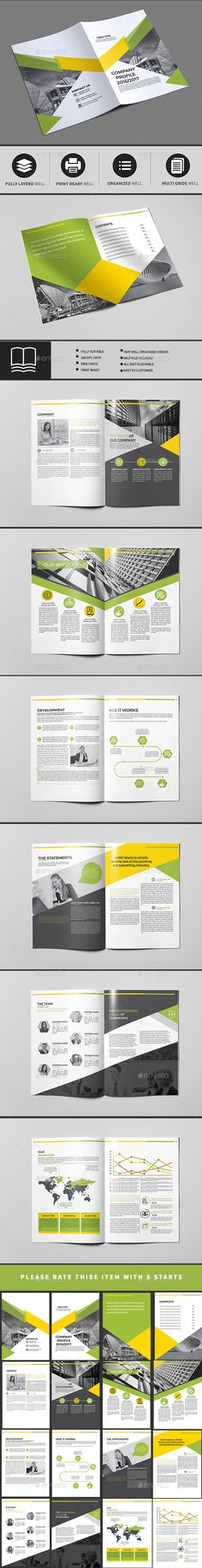 Company Profile 16 Pages Company Profile Brochure Template And