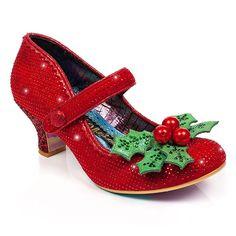 ae1f04f2c0fc3 Irregular Choice Little Holly heels Christmas Shoes, Christmas 2019, Irregular  Choice Heels, Pretty