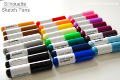 Learn how to use #silhouette sketch pens! So easy and fun to use! #craft