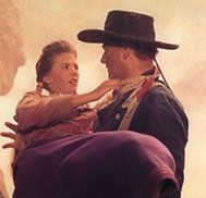 John Wayne was a giant to me, and when he picked me up in that scene near the end of the picture, he was able to lift me as though I were a doll. It was pretty frightening because he had this look of hatred and I thought that he could easily crush me. But then there would be an almost indefinable gentleness that would come over him as he cradled me and said, 'Let's go home.' Everyone had always told me, 'John Wayne's no actor. He always plays the same part.' I can tell you, Mr. Wayne was a…