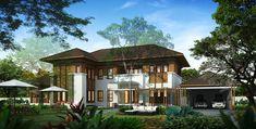 พื้นที่ใช้สอย 710 ตร.ม. แบบบ้าน Tropical Style สถานที่ก่อสร้าง ถ.อ่อนนุช 70 แขวงประเวศ เขตสวนหลวง กทม. ประเภทอาคาร บ้านพักอาศัยสองชั้น