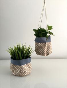 10 Beautiful Leather Plant Holders Worth Trying - Simphome Hanging Wall Planters, Hanging Flower Pots, Hanging Plants, Potted Plants, Plant Bags, Pot Hanger, Coffee Shop Design, Macrame Plant Hangers, Painted Pots