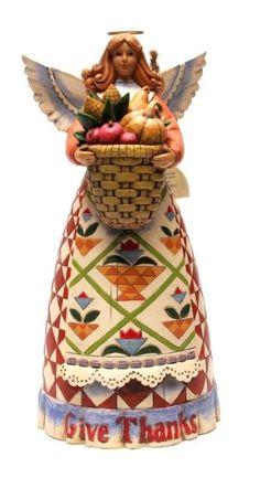 Jim Shore Give Thanks Harvest Angel Figurine