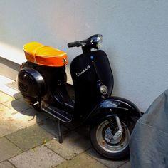 Vespa V50, spotted in Munich, Germany.