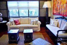 Traditional Filipino Residence - traditional - Living Room - Other Metro - MCK Interior Design Lab Small Living Room Design, Simple Living Room, Small Living Rooms, Living Room Designs, Simple House Interior Design, Living Room Interior, Interior Design Living Room, Living Room Decor, Modern Filipino Interior