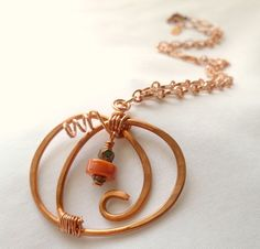 Fall for this Copper Pumpkin Pendant Necklace by HollynSage, $32.00