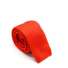 Bright Red Knit Tie from King Kravate - The Neckwear Of Kings