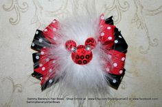 Made to Match Mickey Mouse Inspired Hair Bow by Sammy by iguania03, $7.49