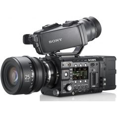 Sony Gets Serious with F5 and F55 Digital Cinema Cameras 4K, 240FPS,... ❤ liked on Polyvore featuring filler