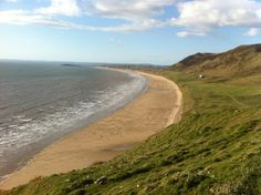 Beautiful Rhossili beach, Swansea, taken on a shoot for a video we're making about taking public transport from Swansea out to the glorious beaches of the Gower, South Wales