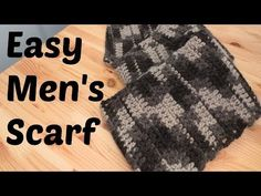 Easy mens scarf! Bday gift for vj: required: Size K (6.50 mm) Crochet Hook 2 Skeins of Vanna's Choice Yarn (Total of 290 yards) Tapestry Needle
