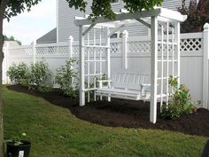 arbor swing my father made for me what a great birthday gift this was thanks dad gardening outdoor furniture outdoor living painted furniture Arbor Swing, Garden Swing Seat, Garden Arbor, Garden Swings, Backyard Swings, Pergola Patio, Backyard Landscaping, Outdoor Projects, Garden Projects