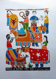 Severino Borges, Bumba Meu Boi.-Literatura de cordel, Brasile Mais Arte Popular, Christ The Redeemer Statue, Handmade Tags, Travel Illustration, Still Life Art, Naive Art, Elements Of Art, Sacred Art, Outsider Art