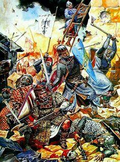 Bataille d'Acre - 1191 ( Victoire décisive des croisés )
