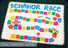the teacher wife: Racing for Good Behavior! My students are really into this Behavior Race, which makes my job easier! Each team (my class is divided into 4 teams) has a chance to move three spaces on the game board, at the end of the day (I use tallies on the board to show how many spaces each team has). If a team has a good day, then they will most likely move all three spaces, if a team has a hard day (behaviorally) then they may only get to move 1 or 2 spaces, depending on how many…