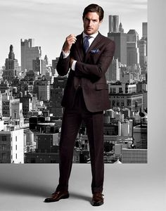 "rickysrunway: ""Justice Joslin for Hickey Freeman Fall/Winter 2015 Campaign """