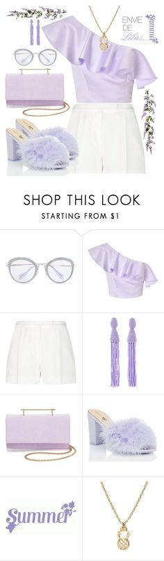 """#Lilas"" by liligwada ❤ liked on Polyvore featuring Miu Miu, Miss Selfridge, Elie Saab, Oscar de la Renta and M2Malletier"