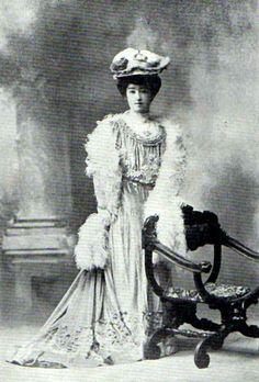 e9ec7e7a369c89 HIH Princess Higashifushimi Kaneko, daughter of Iwakura Tomomi and consort  of Prince Higashifushimi Yorihito. Japan, ca.
