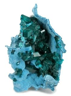 dioptase on chrysocolla by MICHO ROMERO