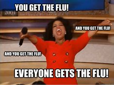 FOR REAL THOUGH! Half my patients right now are flu positive.