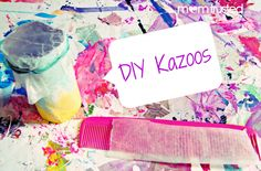 How to make your own kazoo at home. Diy Kazoos!  So much fun!