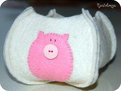 Felt and Pig! #felt #pig