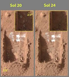 May 25, 2008 NASA landed the Phoenix spacecraft on Mars' arctic plains to study whether liquid water may have existed there